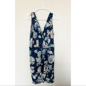 BCBGeneration Navy Floral Dress